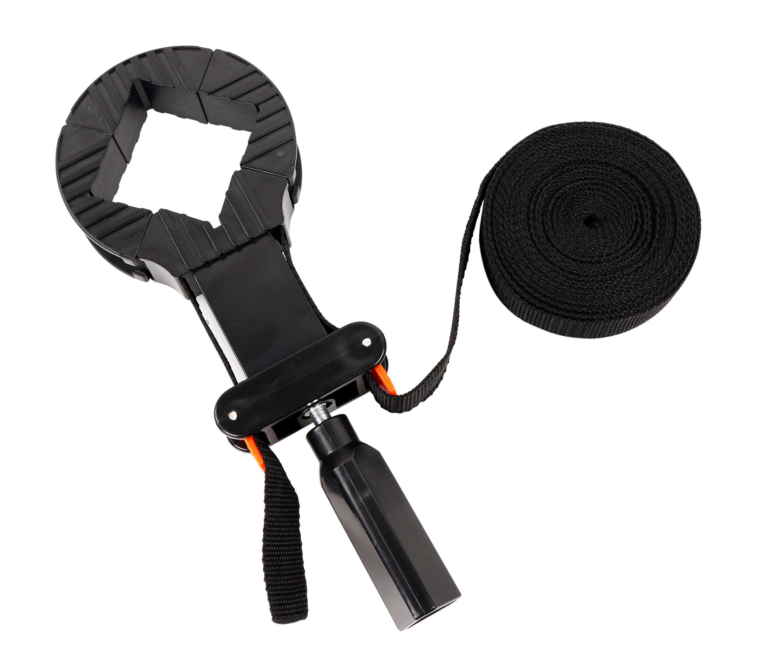 20 Feet Long Multifunctional Adjustable Binding Woodworking Tool Belt Band Strap Clamp With 90 Degree Angle Clip Adjustable Perfect for Use With Box, Picture Frame, Barrel
