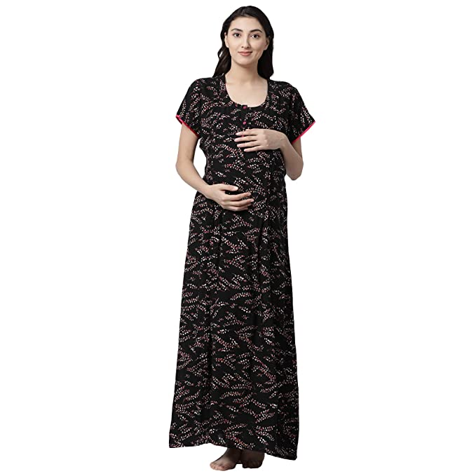 1aa400025ac GOLDSTROMS Women's Minelli Rayon Fabric Maternity/Nursing/Feeding (Black,  Large)