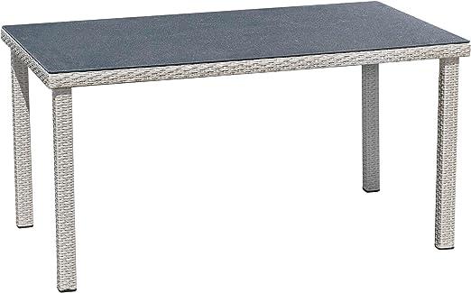Mesa de jardín mesa de comedor de terraza mesa 140 x 80 x 74 cm ...