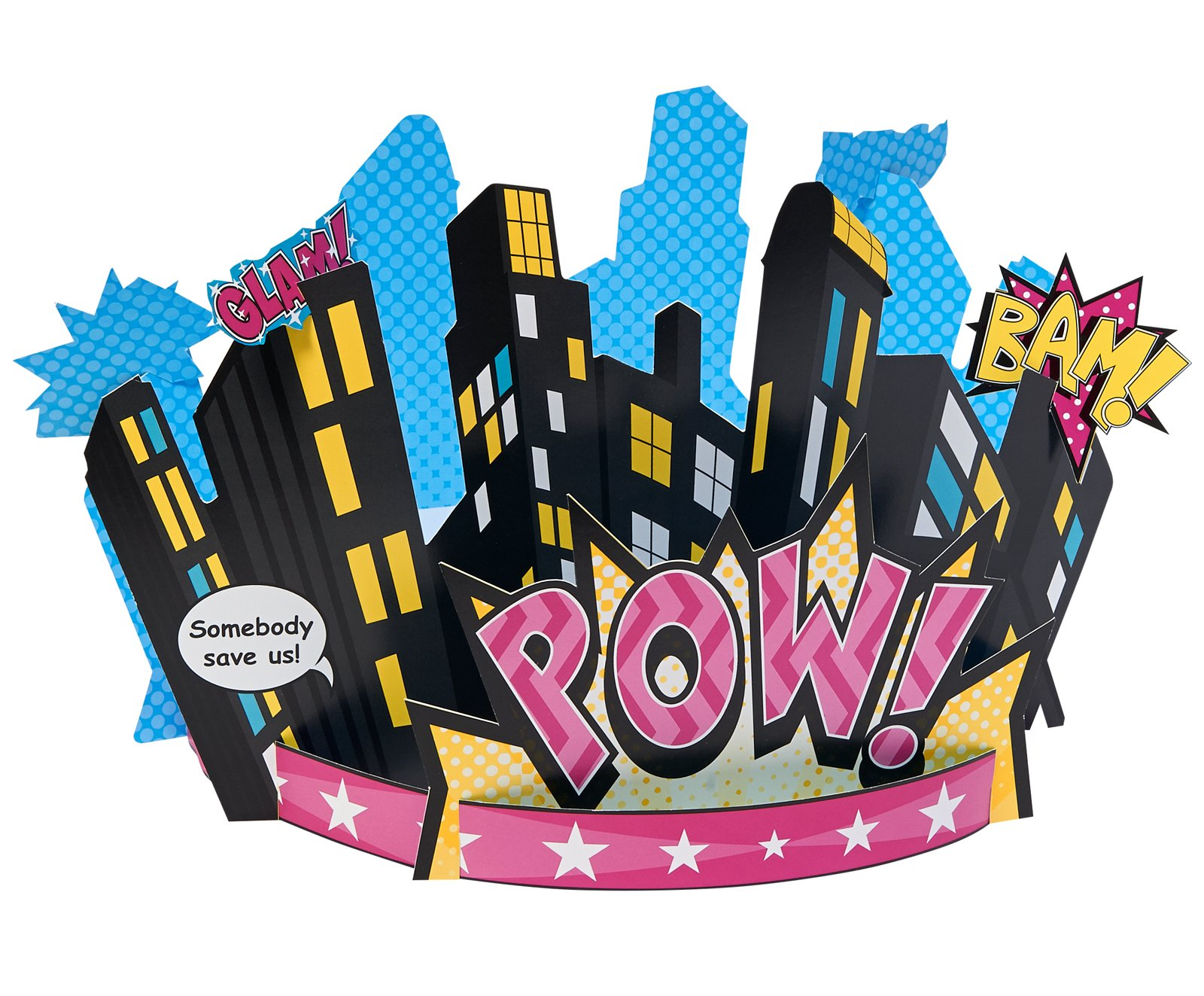BirthdayExpress Superhero Girl Party Supplies - Centerpiece