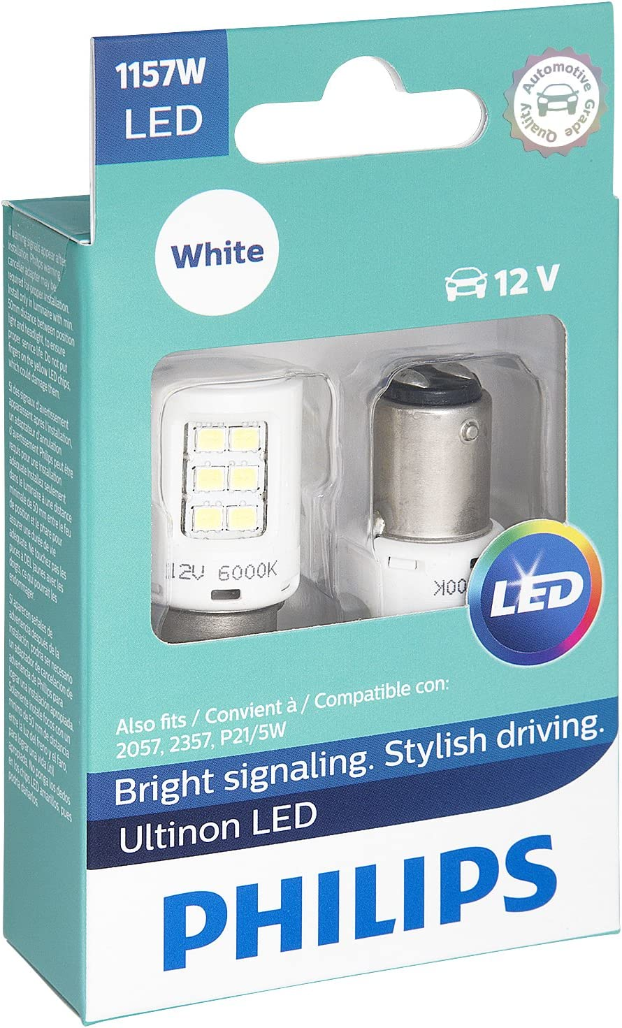 1157 Philips ULTINON Reverse Backing Signal LED Bulbs WHITE 1157ULWX2 Pack of 2