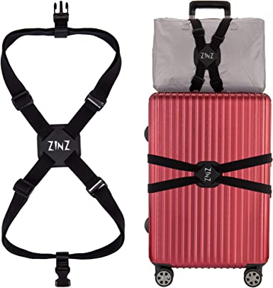 2 Pack Luggage Bungee High Elastic Suitcase Adjustable Luggage Straps Suitcase Adjustable Belt with Buckles and More Applications