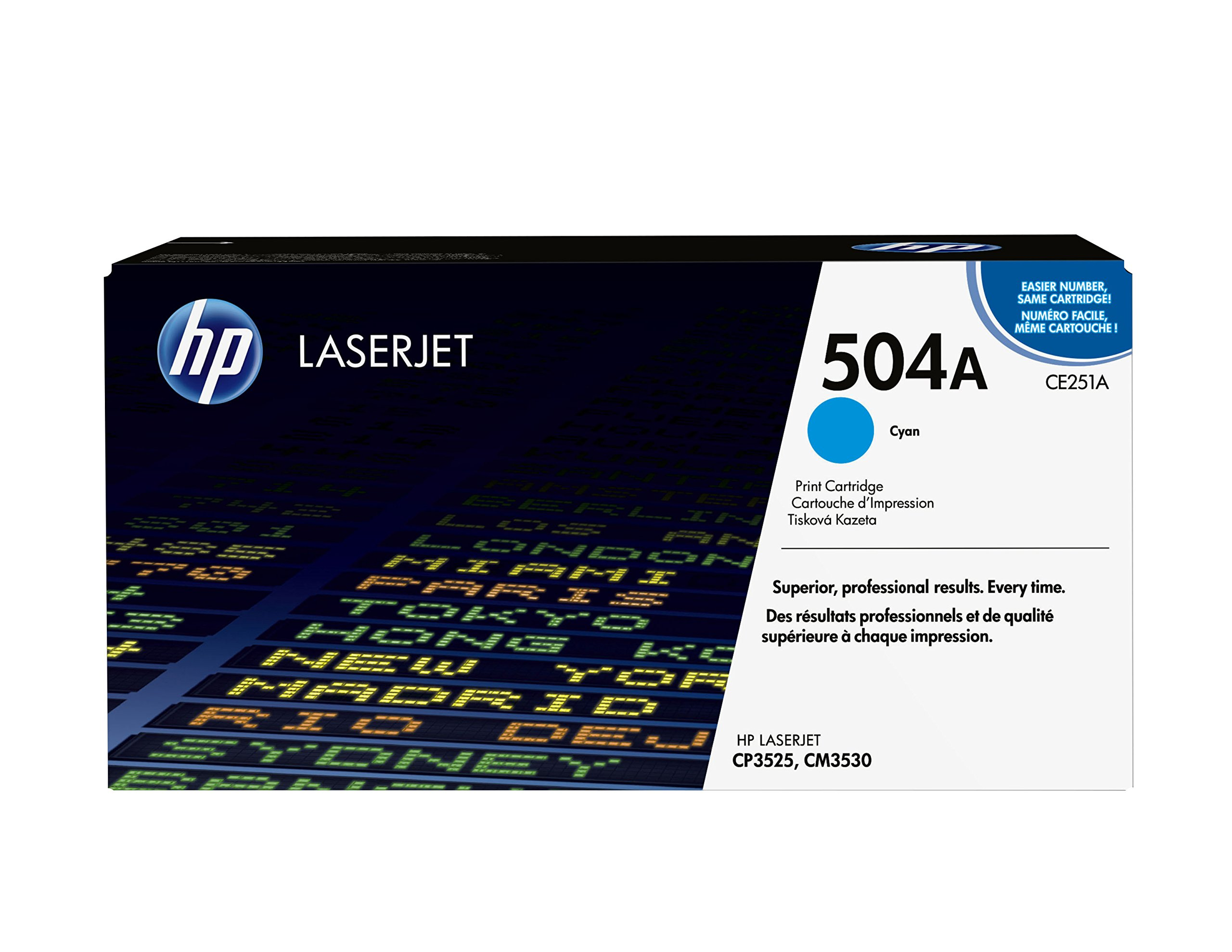 HP 504A (CE251A) Cyan Original Toner Cartridge