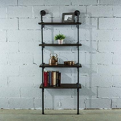 Amazon Com Furniture Pipeline Sacramento 4 Shelf 27 Inch