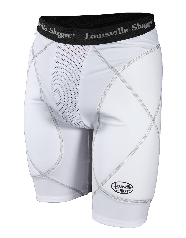 Louisville Slugger Boy's Slugger Gold Shield Sliding Shorts White X-Large Xone LS1300-Y