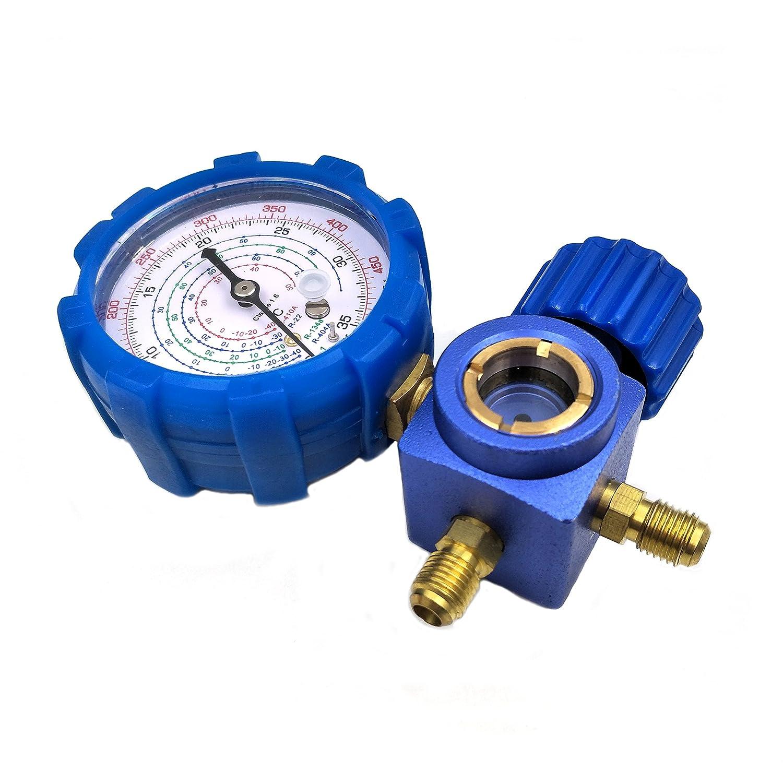 nikauto R134/R410/a R22/R404/A colector calibre man/ómetro de alta bajo sin manguera