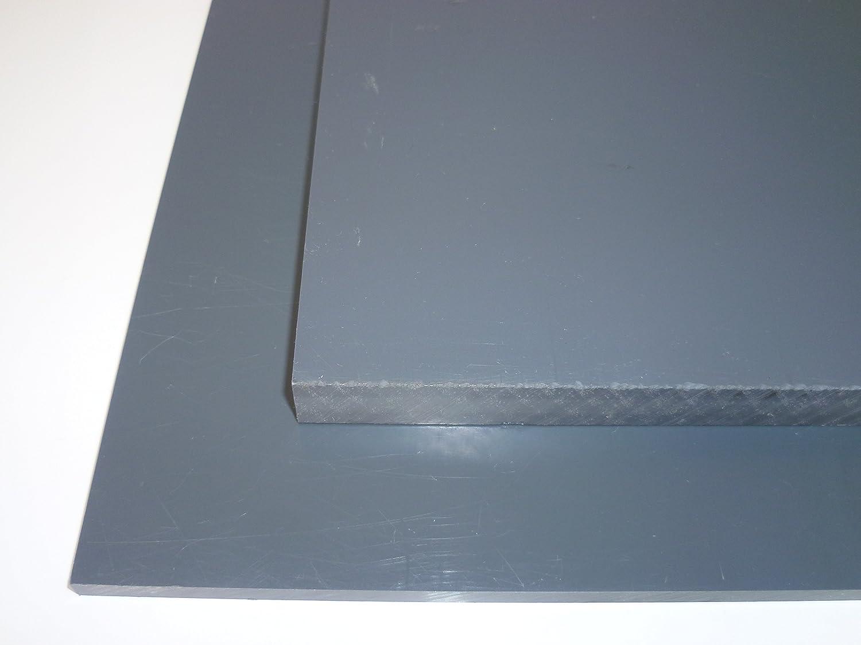 B/&T Metall Hart PVC grau Platten 10,0 mm stark im Zuschnitt Gr/ö/ße 500 x 1000 mm