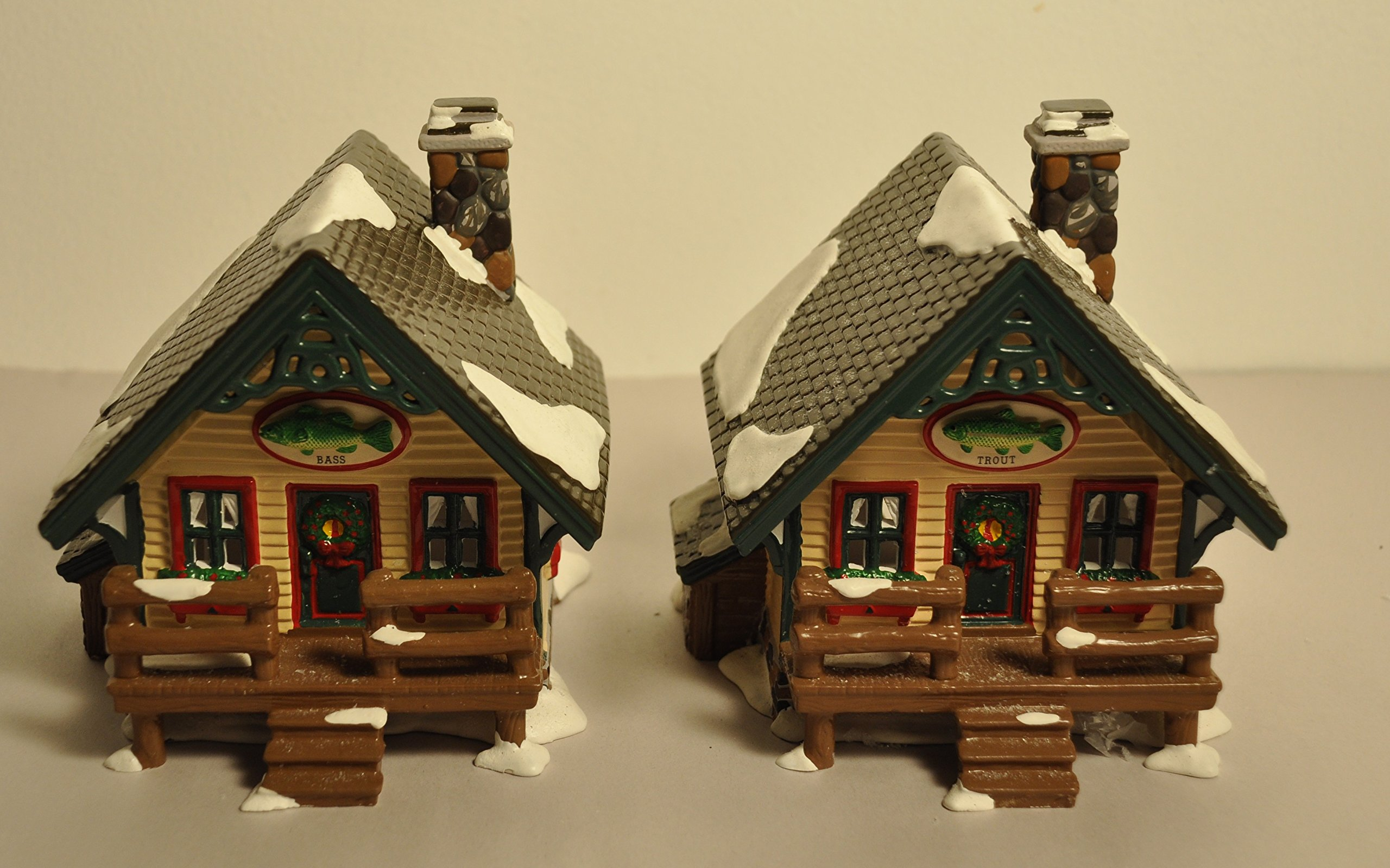 Dept 56 Original Snow Village Fisherman's Nook Cabins 5461.5