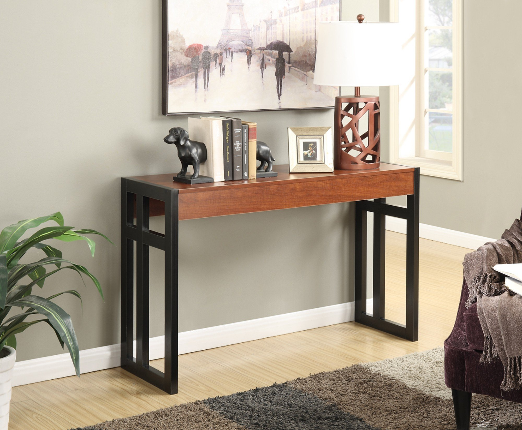 Modern console table decor wood accent entryway sofa side stand modern console table decor wood accent entryway sofa side stand bookcase display geotapseo Gallery