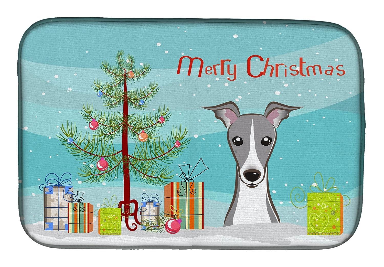 Caroline 's Treasures bb1608ddmクリスマスツリーとItalian Greyhoundディッシュ乾燥マット、14 x 21、マルチカラー   B07BQFS2BQ