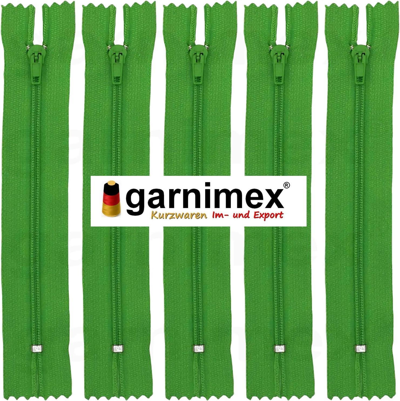 garnimex Cremallera 40 cm x 10 Unidades, no Divisible Color Verde