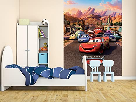 1wall Disney Cars Lightning Mcqueen Feature Wall Wallpaper Mural