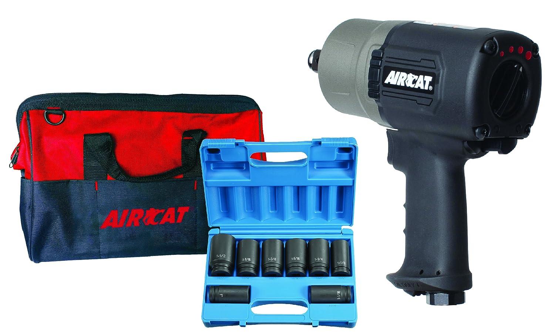 Gray AIRCAT 1770-XLK 3//4 Compact Impact Kit