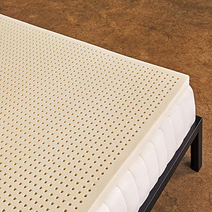 Pure Green 100 Natural Latex Mattress Topper Soft 2 Inch Queen Size Gols Certified Organic Kitchen Dining