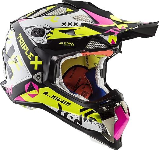 LS2-404702354L//162 Casco enduro offroad motocross SUBVERTER MX470 TRIPLEX COLOR NE//AM//RO TALLA L LS2-404702354L//162