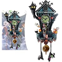 KCRPM Relógio de parede para o Dia das Bruxas, relógio de cuco, da Disney, o Estranho Mundo de Jack, de Tim Burton, para…