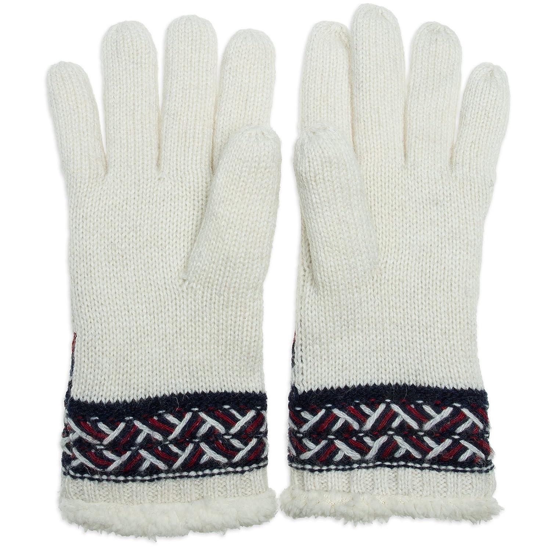 b2979c93195533 CASPAR GLV004 warm gefütterte Damen Strick Handschuhe mit Stern,  Farbe:dunkelblau;Größe:One Size: Amazon.de: Bekleidung