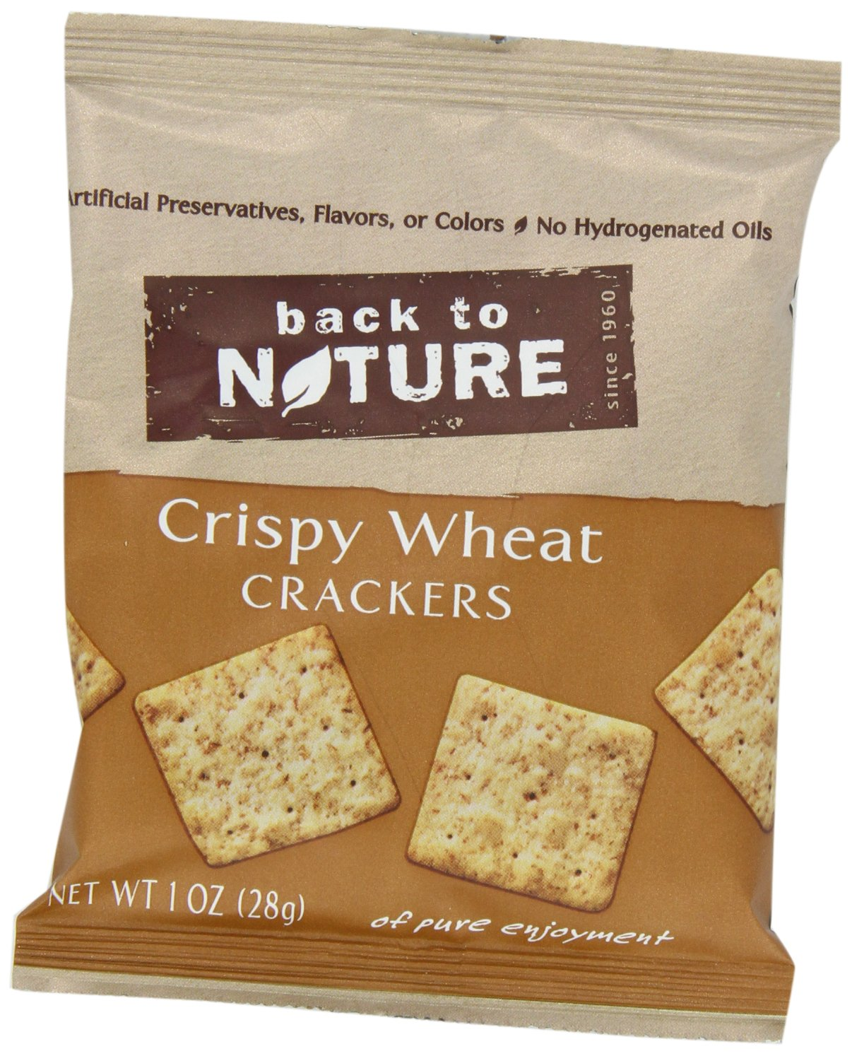 Back to Nature Non-GMO Crispy Wheat Crackers, 1 Ounce, 8 Count (Pack of 4) by Back to Nature