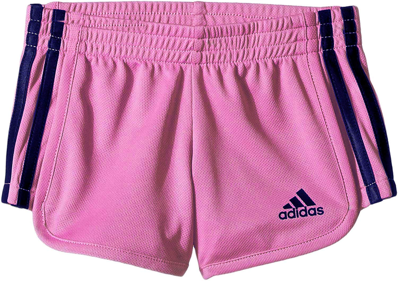 adidas Big Girls' Athletic Shorts, Medium Pink/Navy, Medium