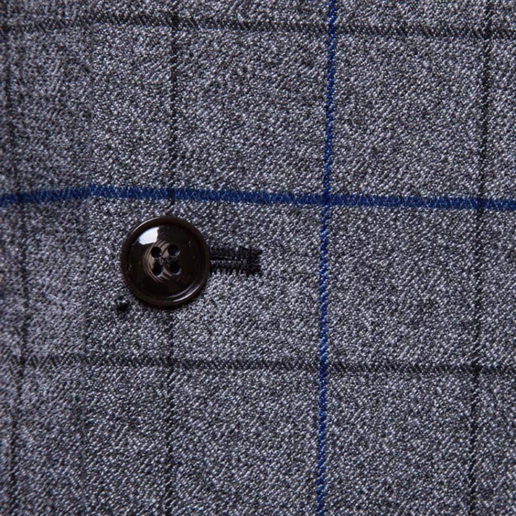 iLXHD Casual Men Plaid Printed Sleeveless Jacket Coat Suit Vest Blouse by iLXHD (Image #8)