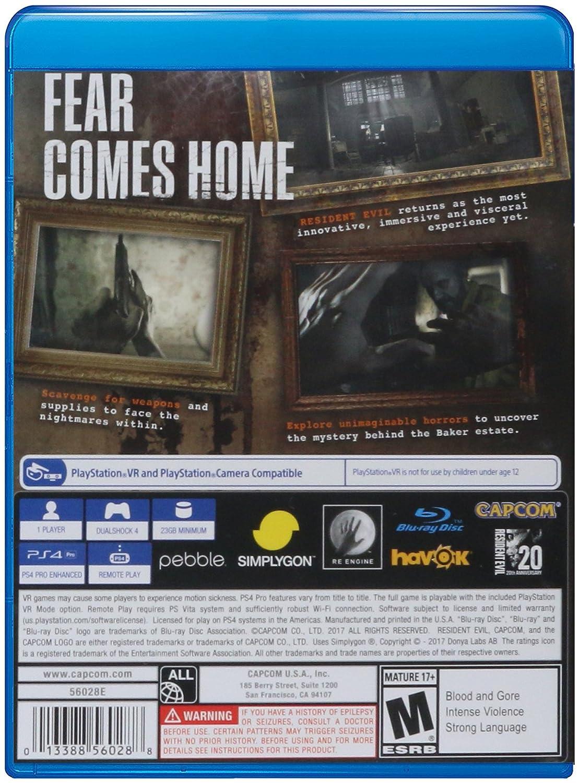 Capcom 56028 Resident Evil 7 Biohazard Ps4