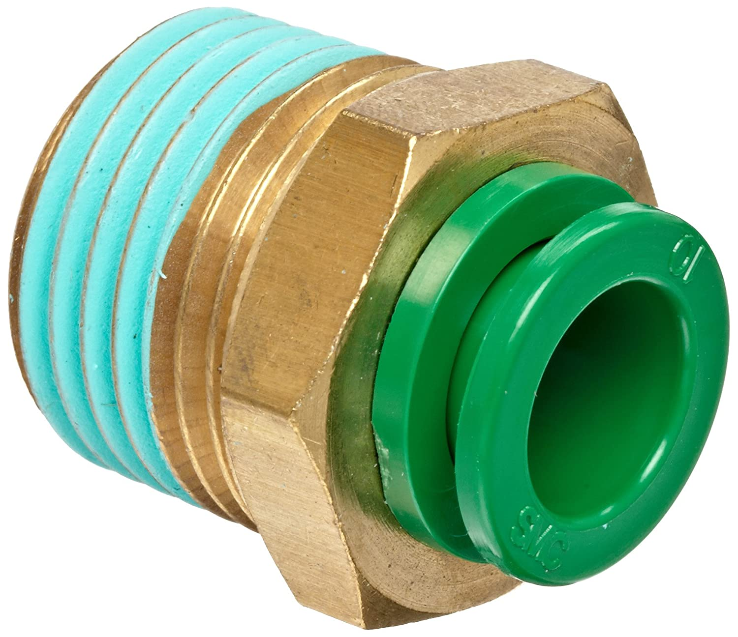 Smc Kr Series Brass Flame Resistant Push To Connect Tube Fitting Wiring A Metal Plug Socket Free Download Diagrams Pictures Connector With Sealant 10mm Od X 1 4 Bspt Male Industrial Scientific