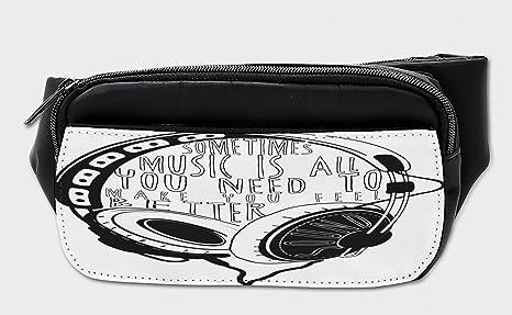 764f4e2870c0 Amazon.com: Lunarable Music Bumbag, Sketch Style Headphone Design ...