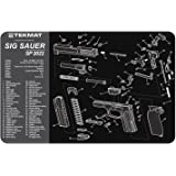 TekMat Sig Sauer SP2022 Cleaning Mat / 11 x 17 Thick, Durable, Waterproof / Handgun Cleaning Mat with Parts Diagram and Instructions / Armorers Bench Mat / Black and Grey