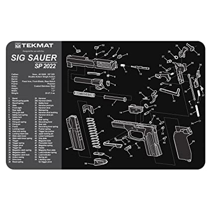 tekmat sig sauer sp2022 cleaning mat / 11 x 17 thick, durable, waterproof /