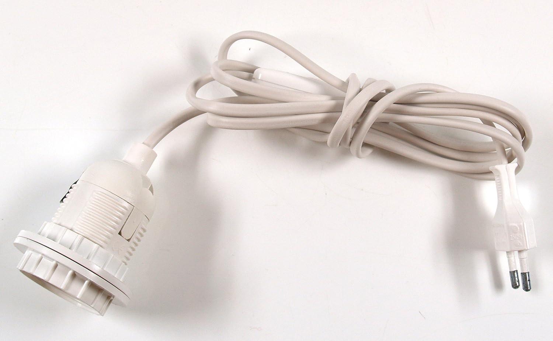 3x Tischlampen-Anschlusskabel-Set Lampenfassung E27 mit Schalter /& Gewindestange