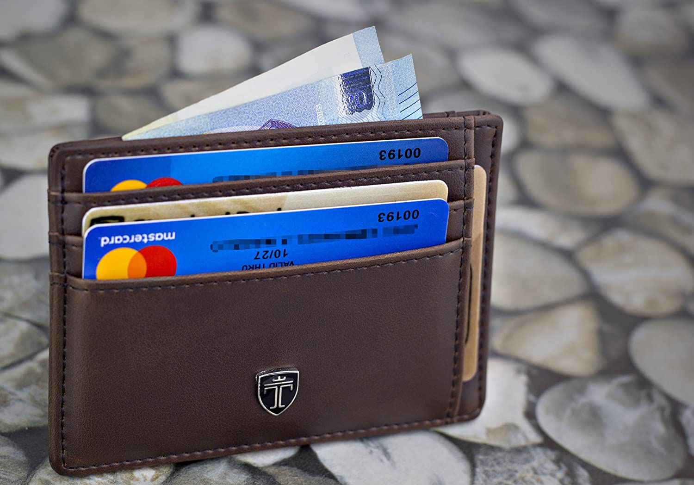TRAVANDO /® Portefeuille Petit Porte-Monnaie Mince avec Blocage Piratage Protection RFID Bancaire Porte Carte Monnaie Etui Hommes Cadeau Billets