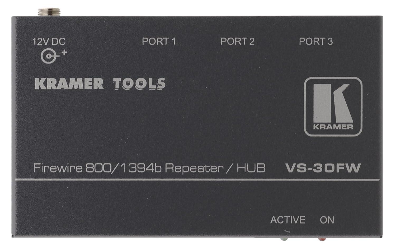 Amazon.com: Kramer VS-30FW 3-Port FireWire 800 Repeater / Hub ...
