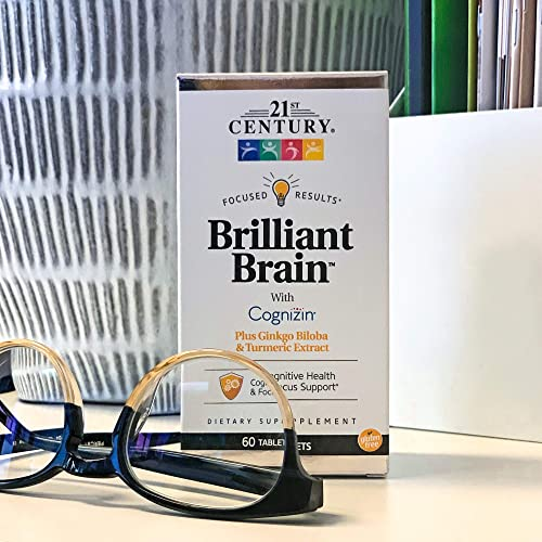21st Century Brilliant Brain Supplements, 60Count