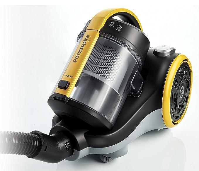 Polti C115 Forzaspira-PBEU0099 Forzaspira C115-Aspirador ciclónico sin Bolsa Potente, 1400 W, 2 litros, 79 Decibelios, plástico, Amarillo