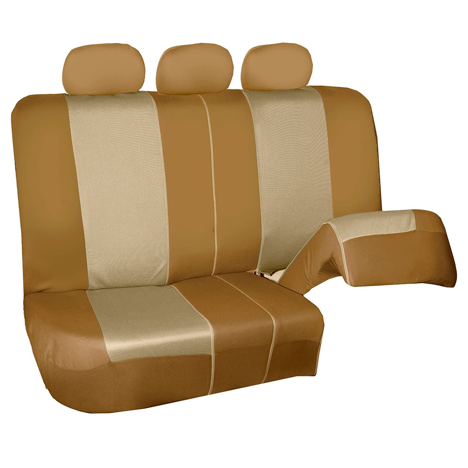 FH Group FB126102 Two Tone Leopard Car Seat Covers Truck or Van Airbag compatible Suv Leopard- Fit Most Car