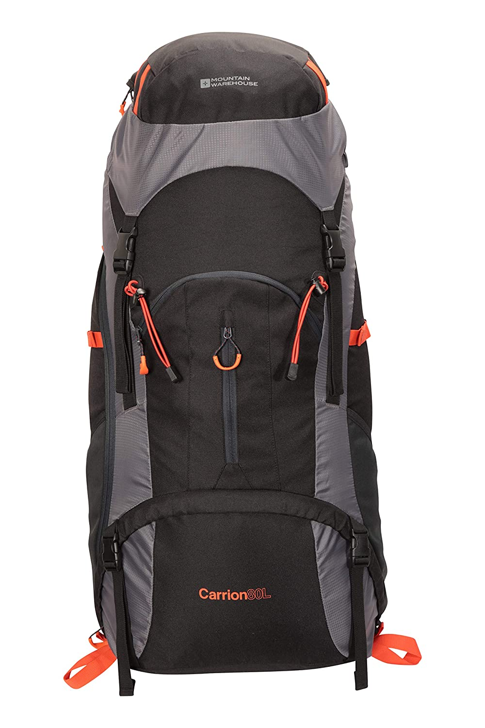 0b6cf71182 Mountain Warehouse Carrion 80L Rucksack - Soft Travel Backpack ...