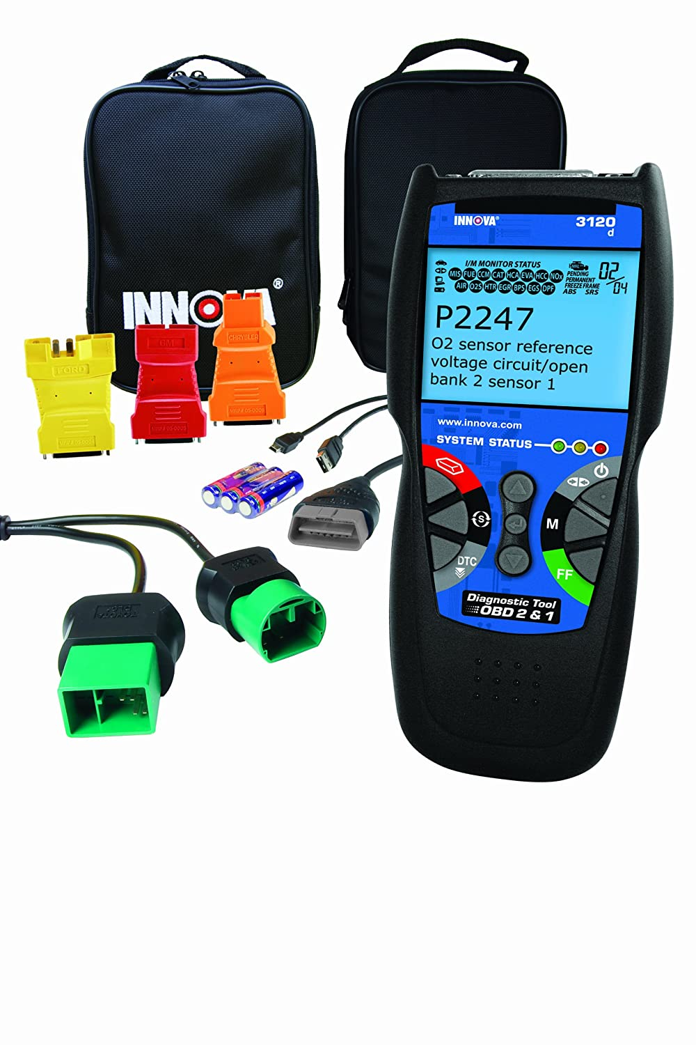 Innova 3120 Diagnostic Scan Tool Code Reader For Obd1 Aldl Wiring 1997 Toyota 4runner And Obd2 Vehicles Automotive