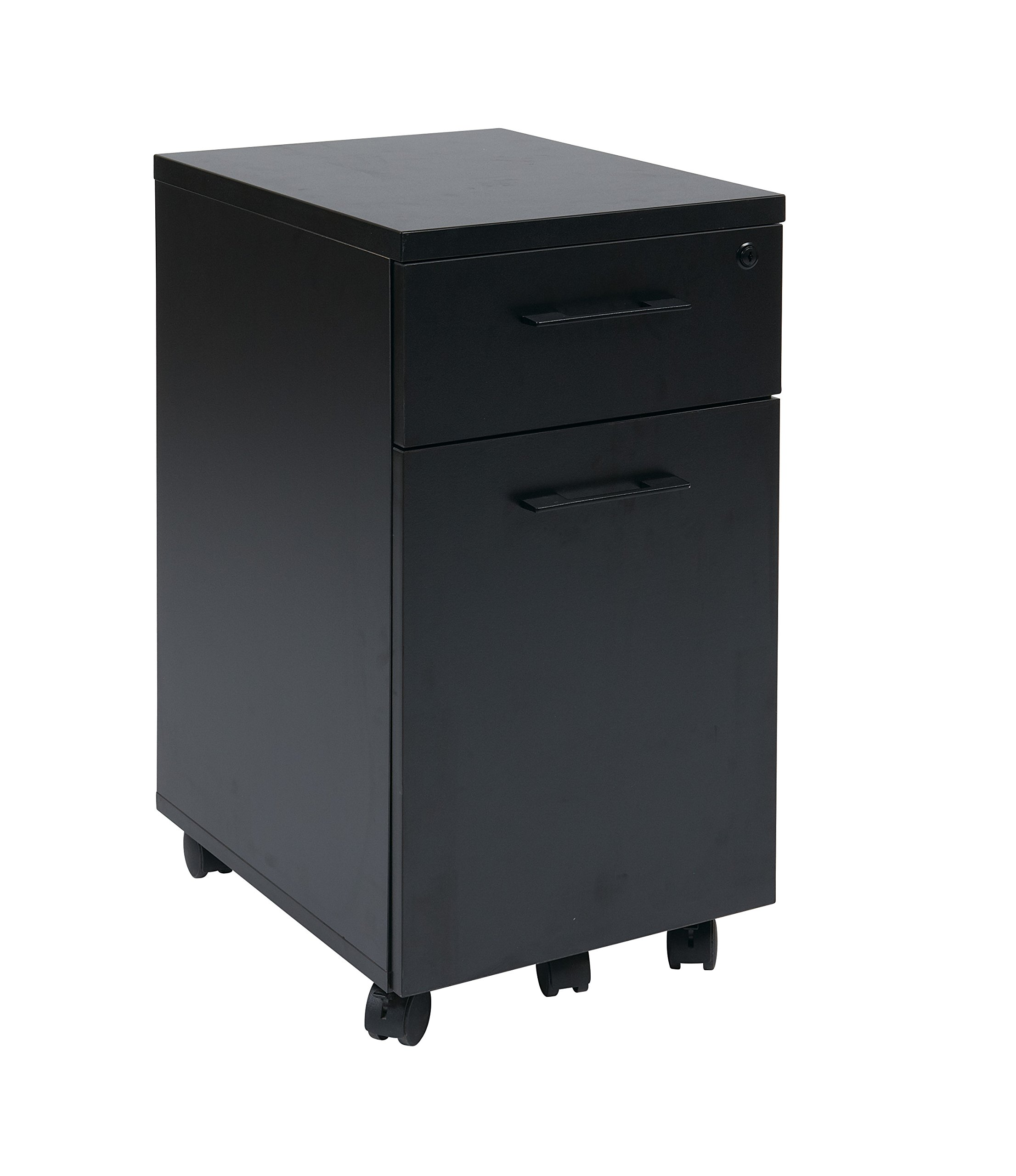 Pro-Line II / OSP Designs Prado Mobile File in Black with Hidden Drawer and Castors