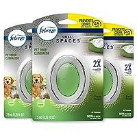 Febreze Small Spaces Pet Odor Eliminator Air Freshener, Fresh, 3 Count