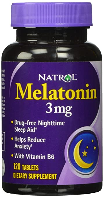 Natrol Melatonin Tablets, 3mg, 120 Count