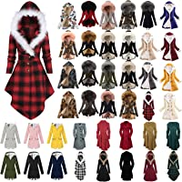 UNIPIN Womens Hooded Cardigan Winter Plus Size Thickened Warm Sherpa Lined Plush Lightweight Parka Puffer Down Jacket