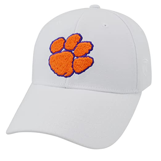 huge discount a78cf 468dc Amazon.com   Top of the World NCAA Mens Premium Collection One-fit Memory  Fit Hat White Icon   Clothing