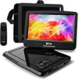 "SUNPIN Portable DVD Player 12.5"" for Car and Kids, 10.1 inch Eyesight Protective HD Swivel Screen, Stereo Speakers&Dual…"