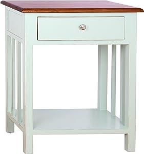 Porthos Home Tonality Designs Emerson 1 Drawer Nightstand, Aqua