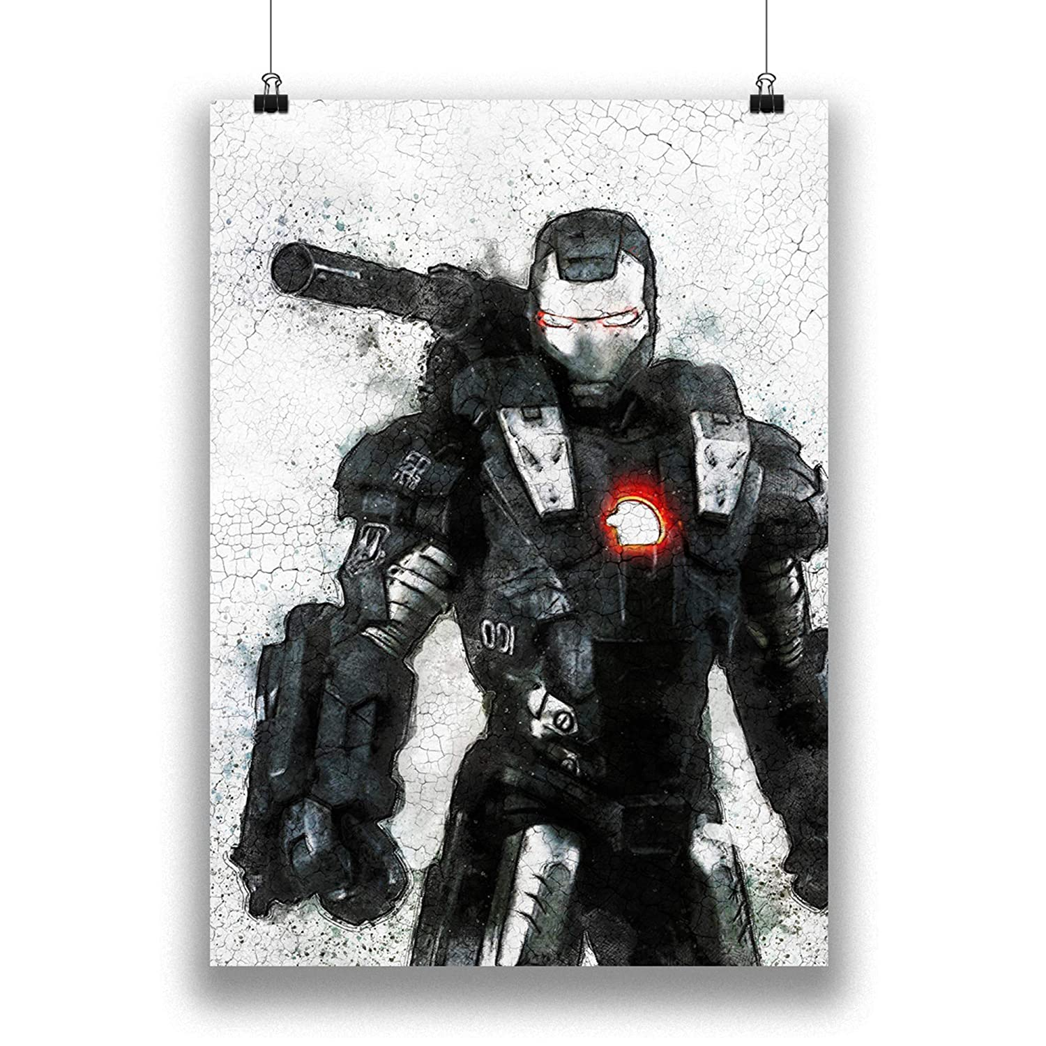 Marvel Avengers War Machine Art Print Jim Rhodes Endgame Superhero Poster on 100/% Cotton Paper Iron Man Abstract Movie Poster