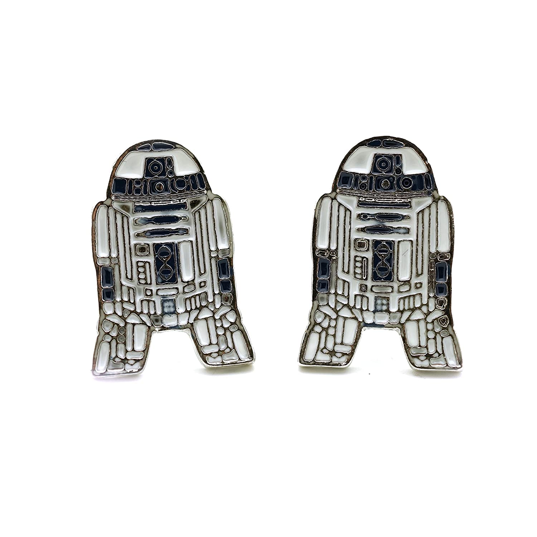 Teri's Boutique R2D2 Star Wars Robot Silver Tone Men Fashion Cufflinks w/Gift Box unknown