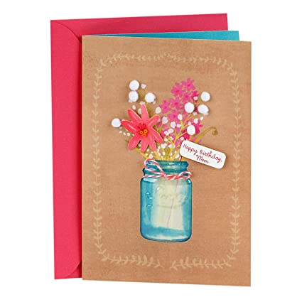 Amazon Hallmark Signature Birthday Greeting Card For Mom Flowers Office Products