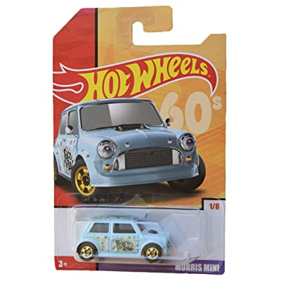 Hot Wheels 1:64 Scale die cast [Blue] Morris Mini 1/8: Toys & Games