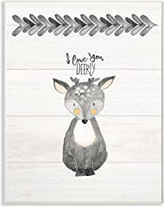 The Stupell Home Decor Collection I Love You Dearly Framed Gisele Texturized Art, 13 x 19, Wall Plaque