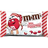 M&M'S Holiday White Peppermint Chocolate Candy 8-Ounce Bag